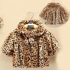 2014 New Baby  Toddler Kid Girl One-Piece Outwear Coat Outer Leopard Fleeced Top
