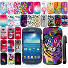 For Samsung Galaxy S3 mini i8190 Cute Design PATTERN HARD Case Back Cover + Pen