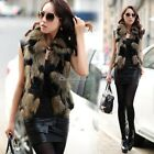 NEW Womens Winter Fashion  Warm Faux Fox Fur Long Vest Jacket Coat Waistcoat
