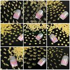1 Pack Golden Metal Slice Nail Art Cellphone Scrapbooking DIY Design Decorations