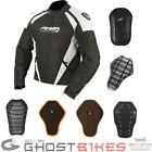 ARMR MOTO ITAMI MOTORCYCLE MOTORBIKE WATERPROOF SHORT JACKET + BACK PROTECTOR