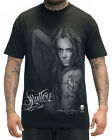 Sullen Clothing Hear No Evil Mens Black Fallen Angel Big Gus Tattoo Tee T Shirt