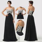 Long Bridesmaid Prom Dresses Evening Formal Dress Wedding Party Ball Gowns Black