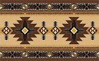 RUSTIC AZTEC SOUTHWEST BLANKET  DESIGN 3  PLACE MATS FABRIC TOP / RUBBER BACKED
