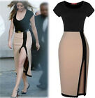 2014 Hot Sexy Women Sleeveless Bodycon Pencil skirt party dress Cocktail green