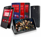 COTECHS SNEAK PEEK DISPLAY FOLIO WALLET CASE FOR ONEPLUS ONE WITH VIEWING STAND
