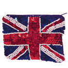 Union Jack Sparkly Sequin Coin Purse Small Clutch Bag