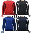 Umbro Team Training Sweatshirts Mens -BLACK_DARK NAVY_RED_ROYAL BLUE -NEW + tags