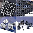 2x A to Z Stainless Steel Initial Letters Earrings Men Womens Ear Stud Cool Gift