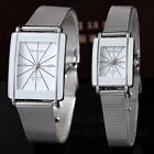New Fashion Women's Men's Watch Quartz Steel Mesh Belt Couple Wrist Watch