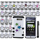 For Motorola DROID RAZR M XT907 IMPACT HYBRID HARD Protector Case Cover + Pen