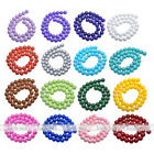 Womens Hot Coated Glass Round Loose Bead Fit Necklace Bracelet DIY 4/6/8/10/12mm