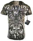 XZAVIER COLLECTION FENIX & THORNS  T SHIRT WINGED FLEUR DE LIS URBAN BATTLE