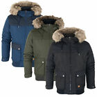 Jack & Jones Men's Zone Bomber Jacket Coat with Fur Hood, Various Colours *BNWT*