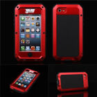 HOT Red Waterproof Shockproof Aluminum Gorilla Metal Cover Case iPhone 4 4S 5 5S