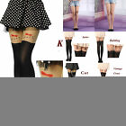 Sexy Tattoo Socks Cute Patterns Sheer Pantyhose Mock Stockings Tights Leggings