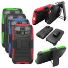 Phone Case For Kyocera Hydro Life Silicone Edge Cover Stand+ Holster Belt Clip