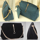 Lady Special Real Leather+Nubuck Shoulder Bag Light Gold Chain With Strap BR336
