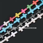 Strand Howlite Turquoise Loose Spacer Charm Gemstone Beads Cross Jewelry Making