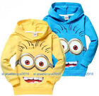 Cute Costume Despicable Me Minions Kids Boys Girls Hoodies Coat Clothes 2-7Years