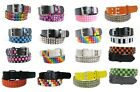 PYRAMID STUDDED FASHION BELT ROCK GOTH LEATHER LOOK WOMANS LADIES MENS STUD NEW