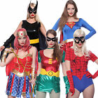 Sexy Super Hero Wonder Woman Fancy Dress Outfit DC Comic Adult Party Costumes