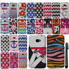 For HTC EVO One 4G LTE DIAMOND BLING CRYSTAL HARD Case Phone Cover + Pen