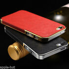 PU Leather Back Slim Hard Back Luxury Skin Case For New Apple iPhone 5, 5s