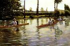 PERISSOIRES OAR BOAT RIVER SPORT 1877 PAINTING BY GUSTAVE CAILLEBOTTE REPRO