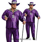 C997 Mens Big Daddy Purple Pimp Halloween Fancy Dress Adult Costume