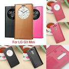 Ultra Thin S-VIEW Flip Leather Case Battery Cover For LG Optimus G3 Mini D725