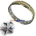 Mens Surgical Stainless Steel Magnetic Golf Bracelet H