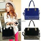 Vingate Women Ladies Fuax Leather Rivet Tote Shoulder Messenger Handbag Bag N98B