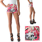 Coogi Comic Strip Novelty Pop Art Diva Shorts