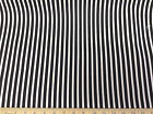 Discount Fabric Premier Prints Carrie Stripe Black and White 03PR