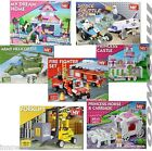 New BUILDING BRICKS Sets Kids FUN Xmas Gifts Fire Fighter Jet Jeep Train Pirate