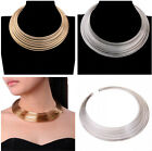 Attractive 38 Layered Shiny Gold Silver Chain Bib Collar Choker Jewelry Necklace