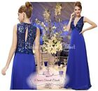 BNWT PRISCILLA Sapphire Blue Sequin Evening Ballgown Maxi Dress UK Sizes 8 -14