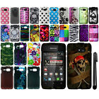 For Kyocera Event C5133 Design PATTERN HARD Case Phone Cover Accessory + Pen