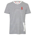 YO YOUR OWN NARA MENS WHITE AND NAVY STRIPED T-SHIRT UK XL