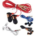 3.5mm In Ear Headphone Earphone Headset Earbud Flat Cable fr iPhone iPod Samsung