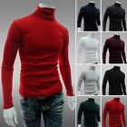Fashion Men's Autumn Winter Turtleneck Wool Sweater Solid Pattern Pullover