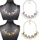 Womens Fashion Horses Link Chain Bib Statement Necklace Choker Collar Jewellery