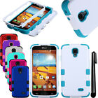 For LG Volt F90 LS740 Impact TUFF HYBRID Rubber HARD Case Cover Phone + Pen