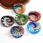 Chic Lampwork Glass Beauty Conchoidal Pendant Bead Fit Necklace SP Jewellery