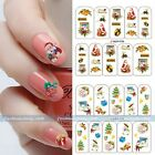 New Christmas Nail art Tips Manicure Pack Water Transfer Stickers Acrylic DIY