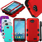 For LG Optimus L90 D405 D415 Armor TUFF HYBRID Rubber HARD Case Cover + Pen