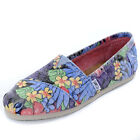 Toms Faded Tropical Print Espadrille Flat Canvas Pumps Size  Womens
