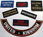 FABRIC or FELT Embroidered Any Name Text Message Tag Patch Badge Personalised
