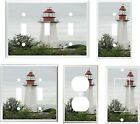 LIGHTHOUSE WHITE RED ROOF IMAGE LIGHT SWITCH COVER PLATE OR OUTLETS U PIC PLATE